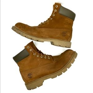 TIMBERLAND 6-INCH BASIC BROWN WATERPROOF BOOTS 12W